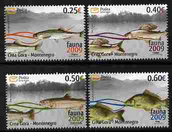 Montenegro 2009 Fish perf set of 4 unmounted mint