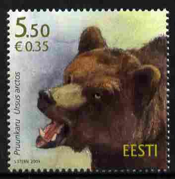 Estonia 2009 Brown Bear 5k50 unmounted mint