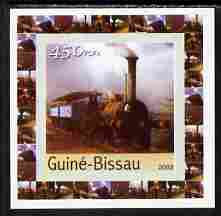 Guinea - Bissau 2003 Locomotives individual imperf deluxe sheet #04 unmounted mint, as Mi 2647