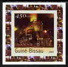 Guinea - Bissau 2003 Locomotives individual imperf deluxe sheet #05 unmounted mint, as Mi 2648