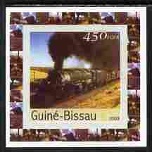 Guinea - Bissau 2003 Locomotives individual imperf deluxe sheet #06 unmounted mint, as Mi 2649