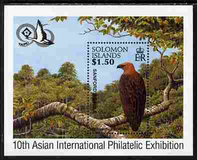 Solomon Islands 1996 Taipai 96 Stamp Exhibition perf m/sheet showing Sanford's Sea Eagle unmounted mint, SG MS 869