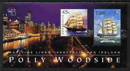 Australia & Ireland 1999 Joint Issue perf m/sheet depicting Polly Woodside unmounted mint SG MS 1850