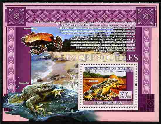 Guinea - Conakry 2009 Frogs perf s/sheet unmounted mint
