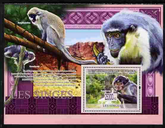 Guinea - Conakry 2009 Monkeys perf s/sheet unmounted mint