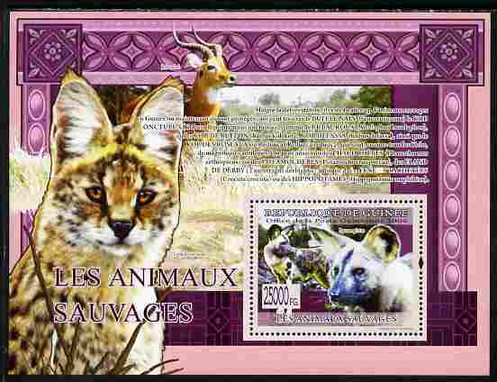 Guinea - Conakry 2009 Wild Animals perf s/sheet unmounted mint