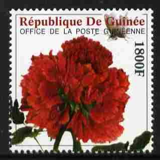 Guinea - Conakry 2009 Peony of China 1800F unmounted mint