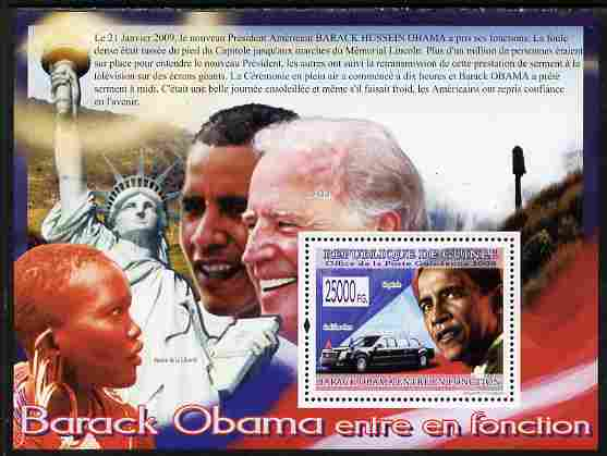 Guinea - Conakry 2009 Barack Obama perf s/sheet unmounted mint