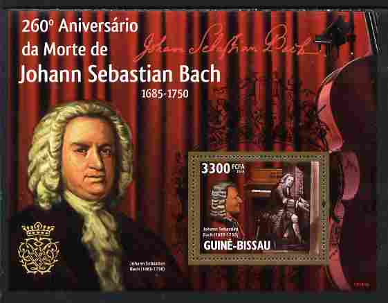 Guinea - Bissau 2010 260th death Anniversary of Bach perf s/sheet unmounted mint
