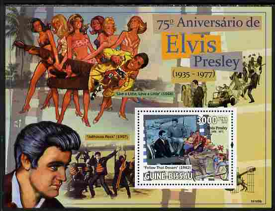 Guinea - Bissau 2010 75th Birth Anniversary of Elvis Presley perf s/sheet unmounted mint