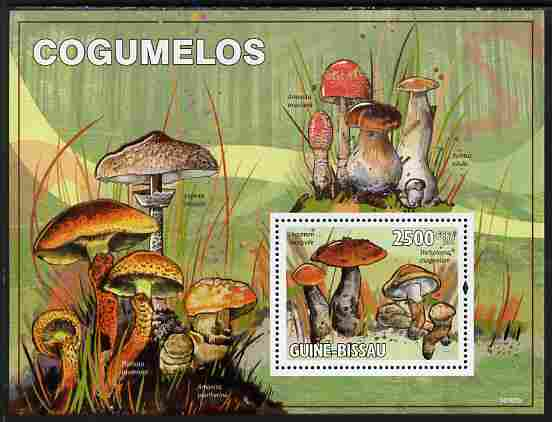 Guinea - Bissau 2010 Mushrooms perf s/sheet unmounted mint
