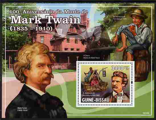 Guinea - Bissau 2010 100th death Anniversary of Mark Twain perf s/sheet unmounted mint