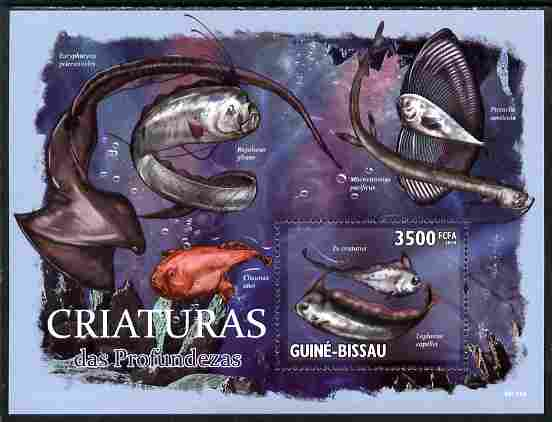 Guinea - Bissau 2010 Marine Life perf s/sheet unmounted mint