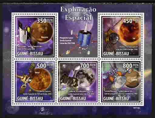 Guinea - Bissau 2010 Space Probes perf sheetlet containing 5 values unmounted mint