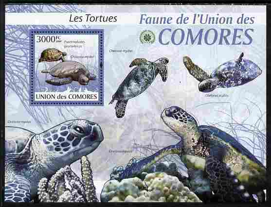 Comoro Islands 2009 Turtles perf s/sheet unmounted mint Yv 195