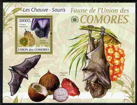 Comoro Islands 2009 Bats perf s/sheet unmounted mint Yv 196