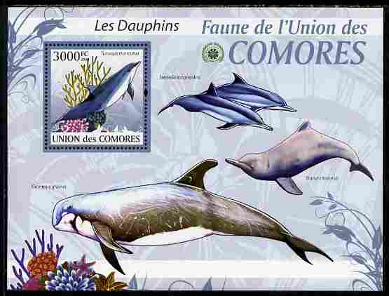 Comoro Islands 2009 Dolphins perf s/sheet unmounted mint Yv 198