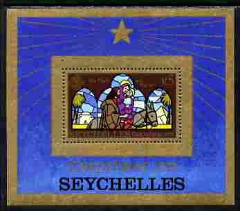 Seychelles 1979 Christmas Stained Glass Window m/sheet unmounted mint, SG MS461