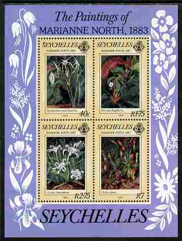 Seychelles 1983 Centenary of Visit by Marianne North (artist) perf m/sheet unmounted mint, SG MS 572