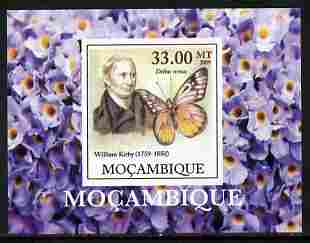 Mozambique 2009 William Kirby Butterflies & Insects #4 individual imperf deluxe sheetlet unmounted mint. Note this item is privately produced and is offered purely on its thematic appeal , stamps on butterflies, stamps on insects