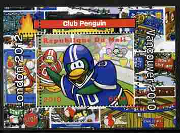 Mali 2010 Olympic Games - Disney Club Penguin #2 individual perf deluxe sheetlet unmounted mint. Note this item is privately produced and is offered purely on its thematic appeal