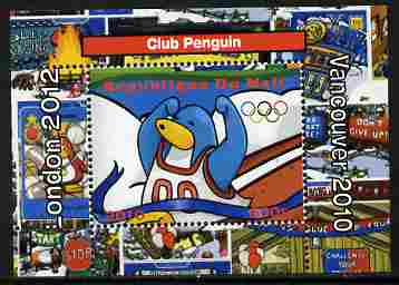 Mali 2010 Olympic Games - Disney Club Penguin #4 individual perf deluxe sheetlet unmounted mint. Note this item is privately produced and is offered purely on its thematic appeal