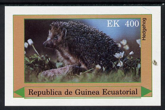 Equatorial Guinea 1977 European Animals (Hedgehog) 400ek imperf m/sheet unmounted mint