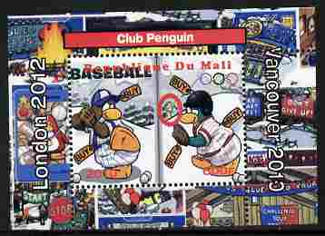Mali 2010 Olympic Games - Disney Club Penguin #8 individual perf deluxe sheetlet unmounted mint. Note this item is privately produced and is offered purely on its thematic appeal