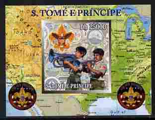 St Thomas & Prince Islands 2010 Centenary of Scouting in America #3 individual imperf deluxe sheetlet unmounted mint. Note this item is privately produced and is offered purely on its thematic appeal