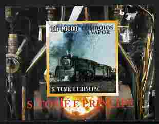 St Thomas & Prince Islands 2010 African Steam Trains #1 individual imperf deluxe sheetlet unmounted mint. Note this item is privately produced and is offered purely on its thematic appeal