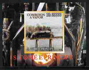 St Thomas & Prince Islands 2010 African Steam Trains #3 individual imperf deluxe sheetlet unmounted mint. Note this item is privately produced and is offered purely on its thematic appeal , stamps on railways