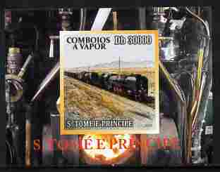 St Thomas & Prince Islands 2010 African Steam Trains #4 individual imperf deluxe sheetlet unmounted mint. Note this item is privately produced and is offered purely on its thematic appeal