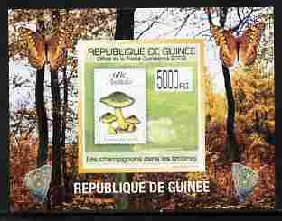 Guinea - Conakry 2009 Fungi on Stamps #1 individual imperf deluxe sheetlet unmounted mint. Note this item is privately produced and is offered purely on its thematic appeal