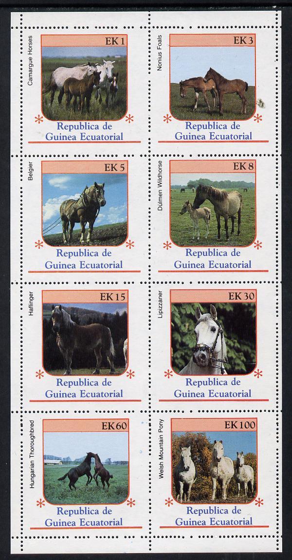 Equatorial Guinea 1976 Horses perf set of 8 unmounted mint, Mi 805-12A