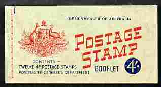 Booklet - Australia 1957 4s booklet with waxed interleaf complete & fine, SG SB34a