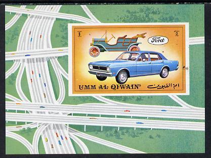 Umm Al Qiwain 1972 Cars (Vintage & Modern) imperf m/sheet, Mi BL 643