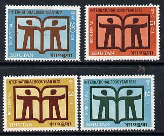 Bhutan 1972 International Book Year set of 4 unmounted mint, SG 266-69