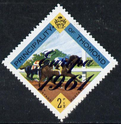 Thomond 1961 Horse Racing 2.5d (Diamond-shaped) with 'Europa 1961' overprint unmounted mint
