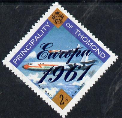 Thomond 1961 Jet Liner 2s (Diamond shaped) with 'Europa 1961' overprint unmounted mint