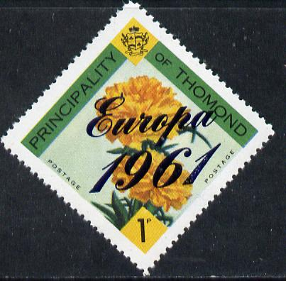 Thomond 1961 Carnation 1d (Diamond-shaped) with 'Europa 1961' overprint unmounted mint