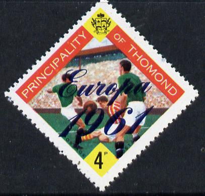 Thomond 1961 Football 4d (Diamond shaped) with 'Europa 1961' overprint unmounted mint