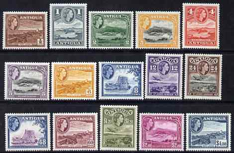 Antigua 1953-62 QEII defs complete lightly mounted mint, SG 120a-34