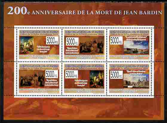 Guinea - Conakry 2009 200th Death Anniversary of Jean Bardin perf sheetlet containing 6 values unmounted mint Yv 6491-96