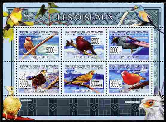 Guinea - Conakry 2009 Fauna - Birds perf sheetlet containing 6 values unmounted mint