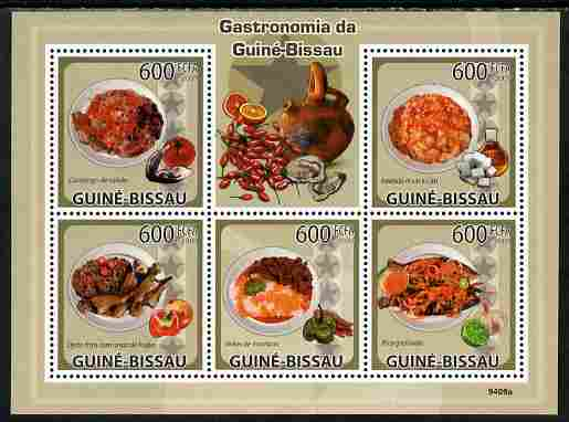 Guinea - Bissau 2009 Gastronomy perf sheetlet containing 5 values unmounted mint Yv 3016-20