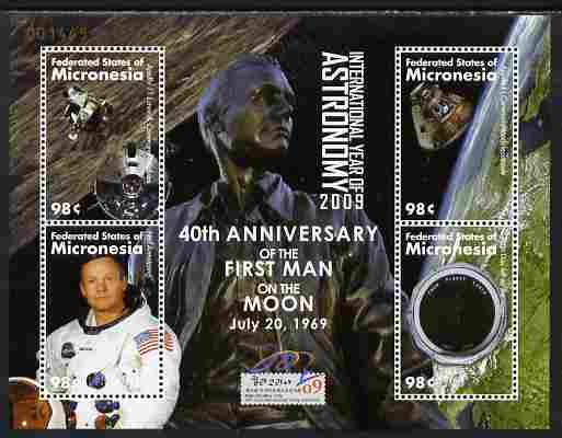 Micronesia 2009 40th Anniversary of Moon Landing perf sheetlet containing 4 values unmounted mint