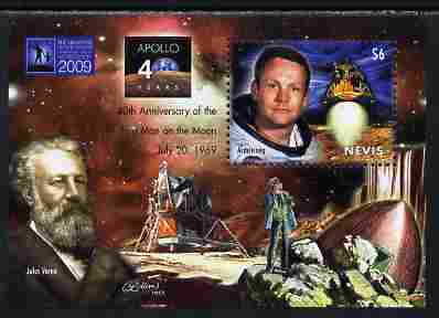 Nevis 2009 40th Anniversary of Moon Landing perf s/sheet unmounted mint