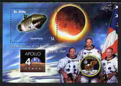 St Kitts 2009 40th Anniversary of Moon Landing perf s/sheet unmounted mint