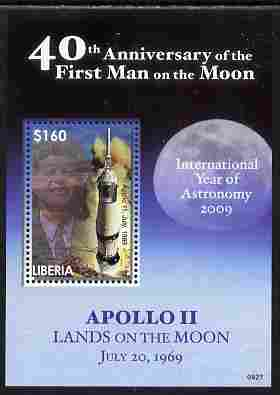 Liberia 2009 40th Anniversary of Moon Landing perf s/sheet unmounted mint
