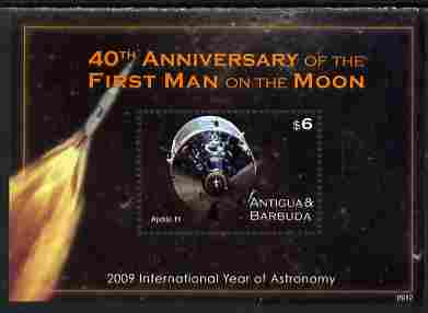 Antigua 2009 40th Anniversary of Moon Landing perf s/sheet unmounted mint